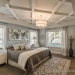 Impressive Coffered Ceiling In Master Bedroom