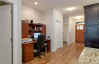 Spacious entrance, open plan.